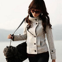 Gray Wool Coat AB830CI