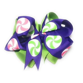 Girls Double Layer Chunky Hair bow