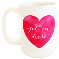 Moon & Lola Get In Here Hot Pink Coffee Mug