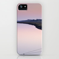 Water. Pedras del Rei. Pink sunset iPhone & iPod Case by Guido Montañés
