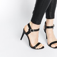 New Look Smart Black Strap Heeled Sandals