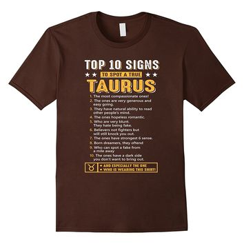 Top 10 Signs To Spot A True Taurus Zodiac Shirt