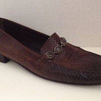 Stuart Weitzman Shoes Womens Size 12 Narrow Brown Cia Loafers Leather