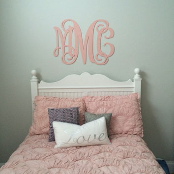 wooden letters painted monogramall sizes home decor wooden monogram script