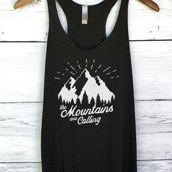 ac NOVQ2A The Mountains are Calling I Must Go Tank Top