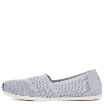 DCCKLP2 Tom Classic Drizzle Grey Custom Knit Women's Flats
