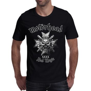 Rocksir 2017 hot sale band series t-shirt men the motorhead classic ablum bad magic heavy metal skull rock style men's tops tee