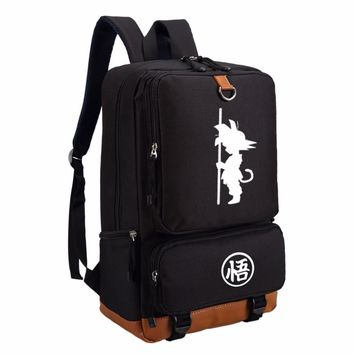 Dragon Ball  Anime fashion casual backpack for teenagers Men women's Student School Bags travel Backpacks Laptop Bags