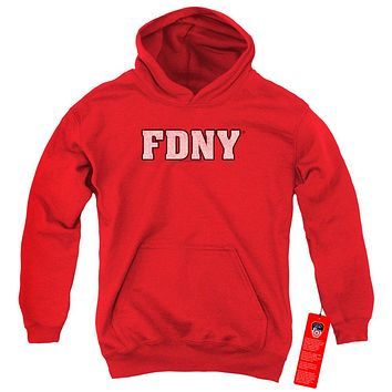 FDNY Kids Hoodie New York Fire Dept Logo Red Hoody