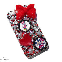 Minnie Mouse Phone Case Minnie Mouse iPhone Disney Bling Phone Case Cover Rhinestone Phone Case iPhone 6 5 5S