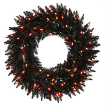 Halloween Wreath - 210 Black Tips