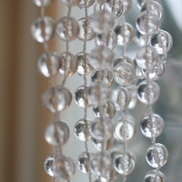 Crystal Clear Strings Of Beads, Wedding Decorations.