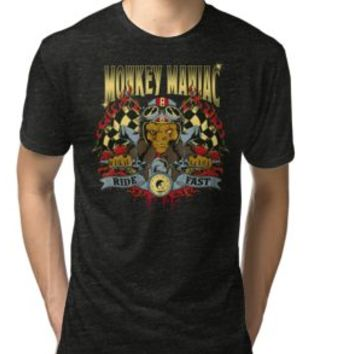 'MONKEY MANIAC - RIDE FAST CAFERACER' T-Shirt by Super3