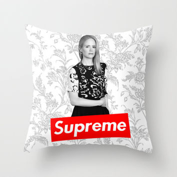 American Horror Story: The New Supreme Throw Pillow by dan ron eli