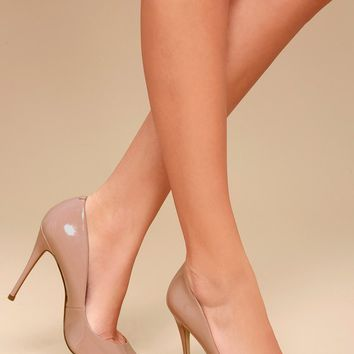 Daisie Dark Blush Patent Pumps