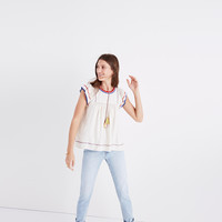 Ulla Johnson™ Silk Katya Peasant Top : | Madewell