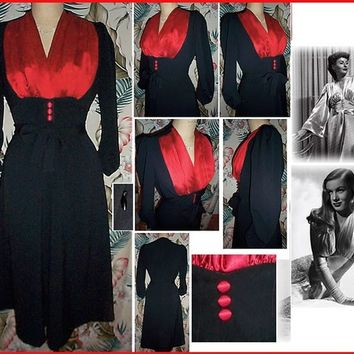 Sexy 1940s Shapely and Feminine Jazz Dress... Quality stretch fabric glides over your curves...