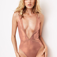 Shine Plunge Bodysuit - Body by Victoria - Victoria's Secret