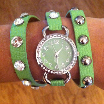 Green Wrap Watch by 21mainstreet on Etsy