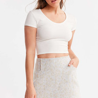Ecote Snow Leopard Mini Skirt - Urban Outfitters