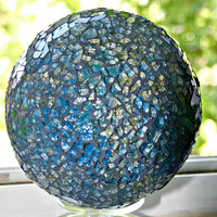 Blue Mosaic Gazing Ball