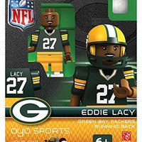 Eddie Lacy Oyo Green Bay Packers Nfl Football Figure Lego Compatible New G2