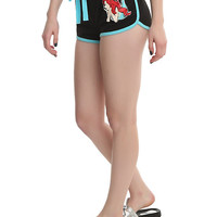 Disney The Little Mermaid Ariel Part Of Your World Black Piped Shorts