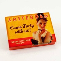 Amsterdam Tin Pocket Box in 1920s Vintage