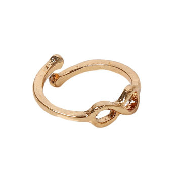 Charming Body Jewelry Endless Love Symbol Women Rings Number 8 Foot Ring Color Gold Silver Plated