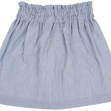 Kyle Skirt in Campus Prep Blue Seersucker by Just Madras