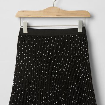Gap Girls Dot Pleated Circle Skirt