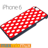 Red Patern Polka iPhone 6/6+ Series Hard Case