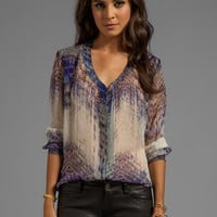 Gypsy 05 Annunaki Long Sleeve Button Down Shirt in Violet from REVOLVEclothing.com