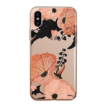 Peachy Floral - iPhone Clear Case