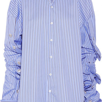 Y/PROJECT - Oversized striped cotton-poplin shirt
