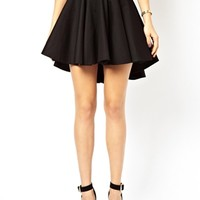 ASOS Volume Skater Skirt with Extreme Dip Back at asos.com