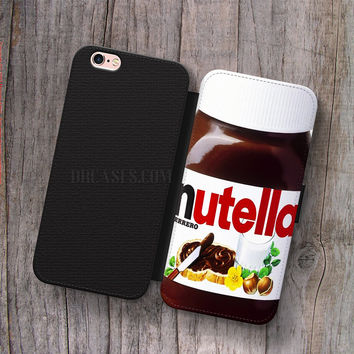 Wallet Leather Case for iPhone 4s 5s 5C SE 6S Plus Case, Samsung S3 S4 S5 S6 S7 Edge Note 3 4 5 nutella Cases