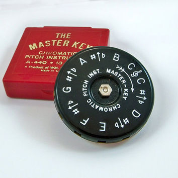 Vintage Master Key Chromatic Pitch Instrument - Pitch Pipe