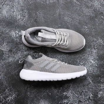 Adidas Neo Cloudfoam Life Racer CC White Gray - Best Deal Online