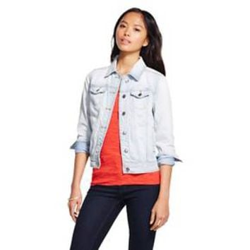 Women's Denim Jacket Light Wash Denim - Mossimo Supply Co.™ (Juniors') : Target