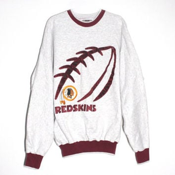 Vintage 90s NFL Redskins Football Crewneck Sweatshirt | Unisex Adult Size XXL Extra Large | Football Team Fan Gift, Boyfriend Husband Dad