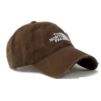 PEAPDQ7 The North Face Brown Cotton Baseball Golf Cap Hat
