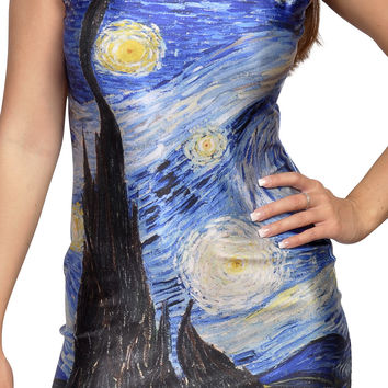 Starry Night Sleeveless Mini-Dress Design 3101