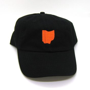 Ohio Hat - Classic Dad Hat - Orange and Black - All States Available