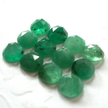 Gemstone Cabochons Emerald Rose Cut 5mm FOR ONE by TigerBeadStore