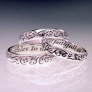 English: Faithful To One Sterling Silver
