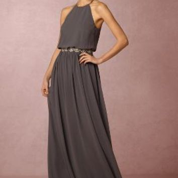 Alana  Wedding Guest  Wedding Guest Dress by Anthropologie x BHLDN in Charcoal Size: