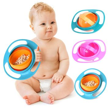 Baby Feeding Cute Baby Gyro Bowl | 360 Rotate Spill-Proof Bowl