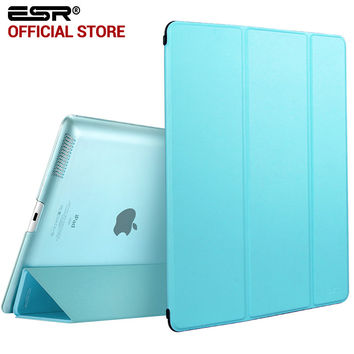 ESR Yippee Color PU Transparent Back Ultra Slim Light Weight Trifold Smart Cover Case for iPad 2/3/4