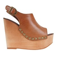 Jeffrey Campbell Studded Snick Wedge in Natural